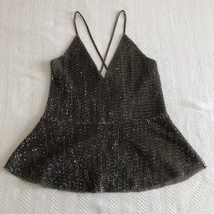 NWT Express sequin top tank.